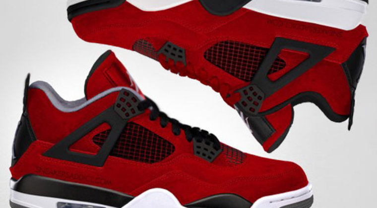 Air-jordan-iv-fire-red-suede-carmelo-comparison